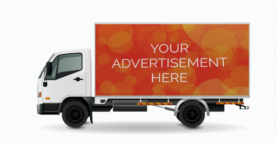 The truck advertising tries to convince customers to buy the products offered